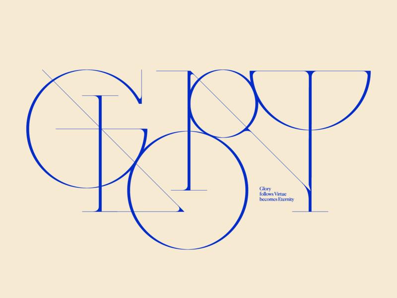 Glory glory type design type art serif font minimal geometric font type graphic design design typography typeface wordmark lettering logo lettering lettermark logotype logo elegant elegant font