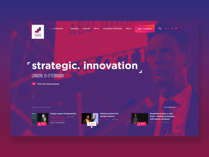 Fintech Summit Website 2020 workshop speech mentorship meeting information forum event discussing conf color typography concept website design conference speaker summit fintech gradient ux ui