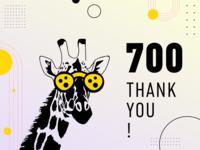 700 followers - Thank you Dribbblers!