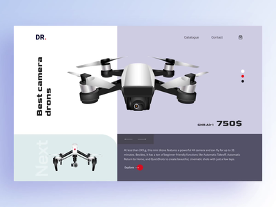 Animation Design for the Drone Store market online shopping store shopping shop catalogue ux app interface dron product branding product page animation animation design animation after effects