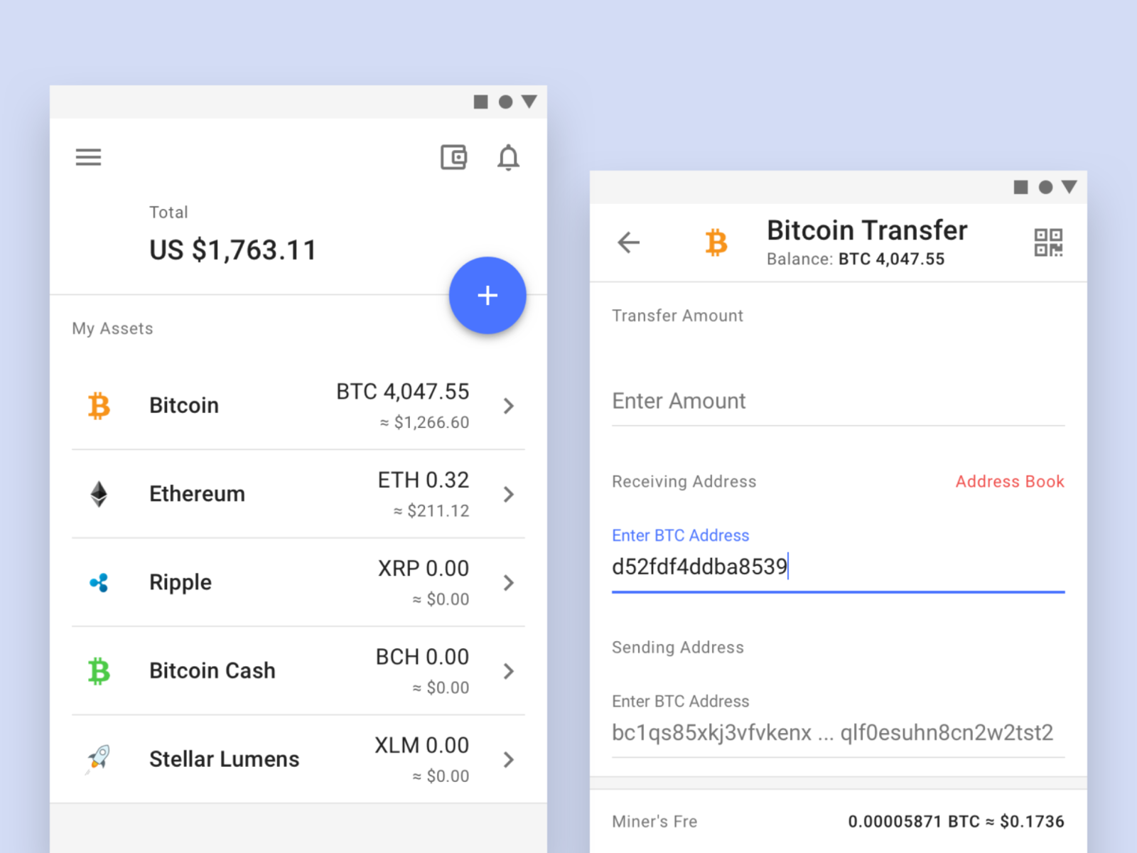 cryptocurrency wallet transfer money