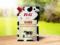 R.G Ghee packaging design