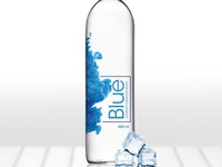 Blue Nutrients Enhanced Water Bottle Beverages Label Design