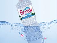 Bringi Water Bottle Product Label Design