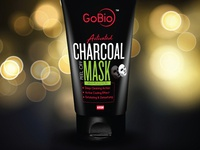 Gobio Activated Charcoal Peel Off Mask Packaging