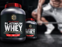 Royalent Whey Protein Workout Supplement Packaging