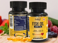 Gobio Fish Oil Dietary Supplement Packaging Design