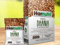 Harnutri Spices Whole Dhania Masala Packaging