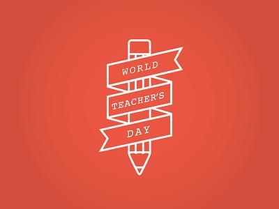 World Teacher Day orange graphics design world teacher day