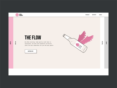 Marketing Agency website for Breweries motion design animation 2d typography motion landing page landing interface interaction illustration drop craft beer craft brewery brand beer banner animation agency