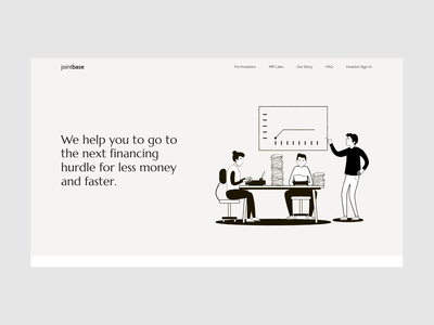 Website for a startup investment website motion animation interaction ux ui design web landing page landing capital venture brand technology business company agency