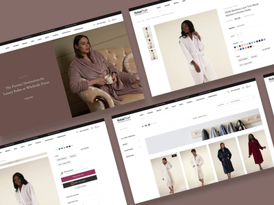 Smooth Animation for E-commerce customization product grid pajamas sleep ware rob fabrics collection wholesale premium animations galery sale catalog ui animation homepage banner redesign website e-commerce