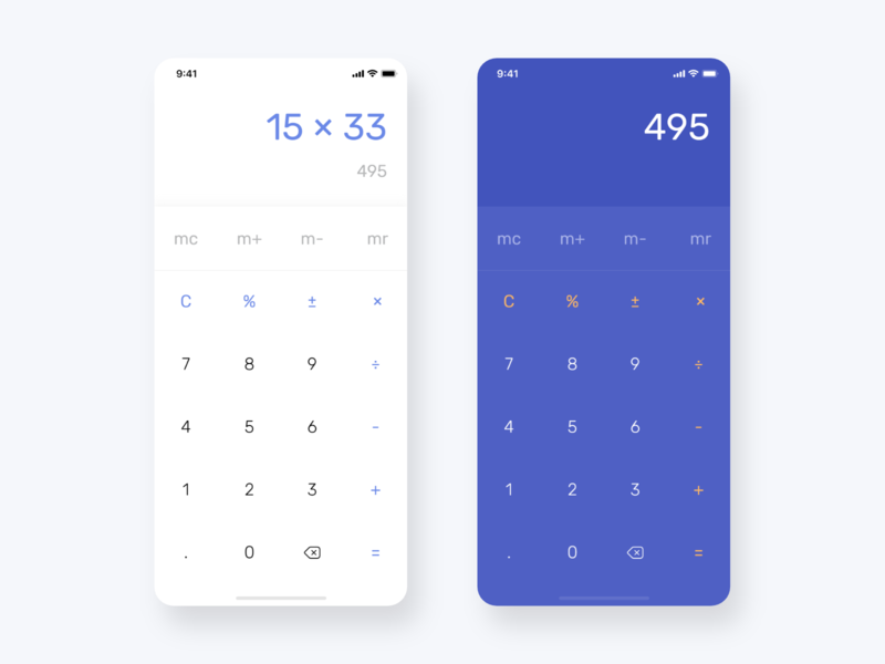Daily UI Challenge #004 - Calculator by Ashot Gulzatian on Dribbble