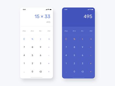 Daily UI Challenge #004 - Calculator calculator app calculation calculate xd vector calculator daily screen application app ui ux inspiration design concept color