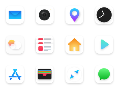 Daily UI Challenge #005 - App Icon icons icon redesign iphone iphone x logo screen application app ux ui inspiration clean modern new ios apple design concept color
