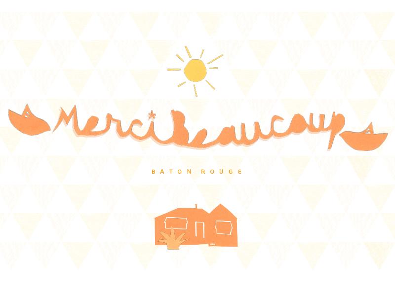 Merci Beaucoup cut paper orange sun bird house