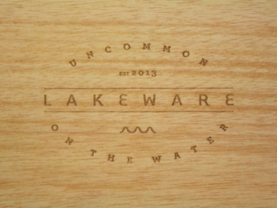 Lakeware Logo lake wood water
