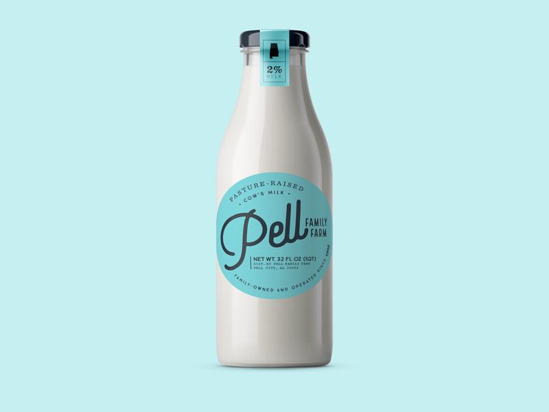 Milk blue typography milk dairy retro
