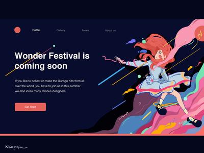 Web illustrations for Wonder Festival