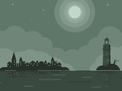 mystic city clouds building vectorart landscape illustrator art illustrator vector illustration adobe