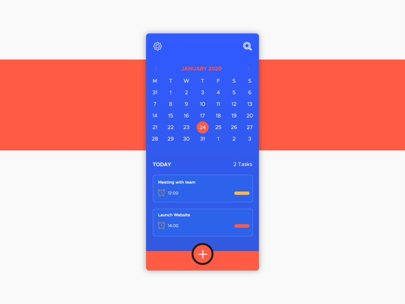 #DailyUI Day 38 - Calendar calendar app web ux dailyui ui