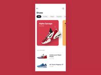 Shoes Shop motion web ux ui