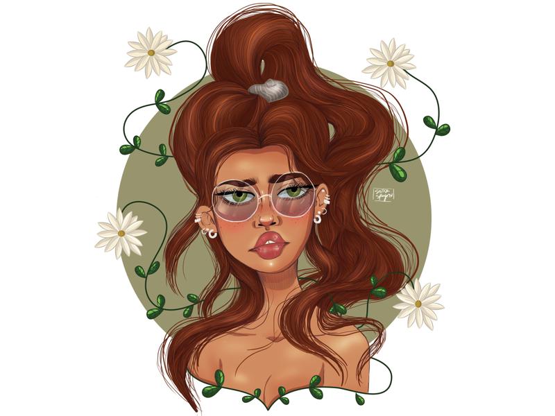 Petal illustration art design girl digitalpainting character art art digital art digital illustration digitaldrawing illustration