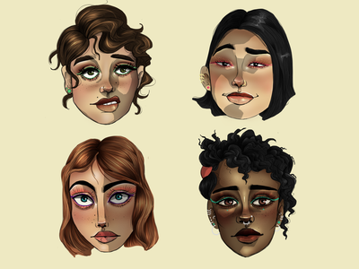 Faces character design digitalpainting illustration art girl digital art art digital illustration character art digitaldrawing illustration