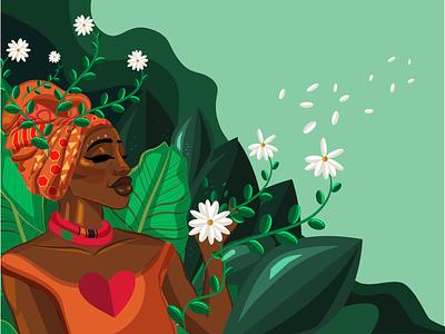 Flourishing illustration art art female wacom intuos design nature vector illustrator digital art digital illustration digitaldrawing illustration