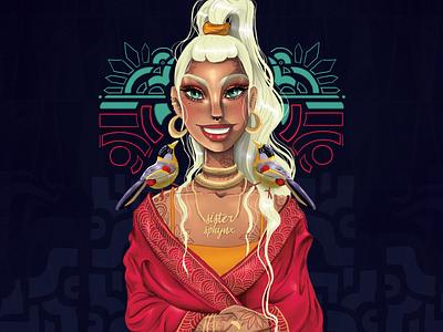 The bird keeper. illustration art girl character design digitalpainting digital art character art art digital illustration digitaldrawing illustration