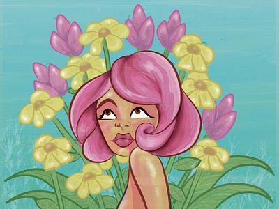 In Bloom design digitalpainting digitaldrawing illustration