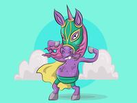 luchador unicorn