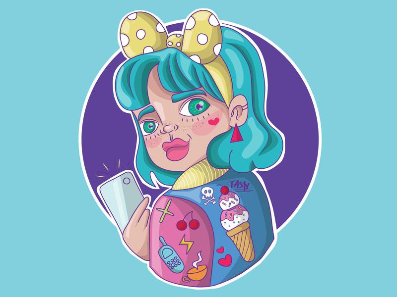 Snap girl cute art cartoon t shirt design graphic design illustrator character art design digitaldrawing illustration