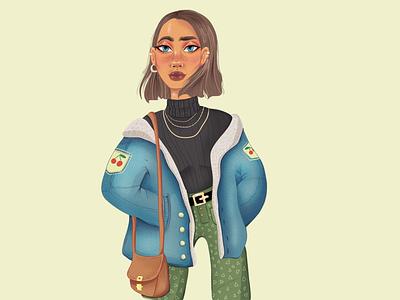 cute stylish girl cute art digitalpainting digital art girl character design art digital illustration character art digitaldrawing illustration