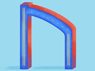 36 days of type: N 36daysoftype07 dribble colors palette digital illustration illustration