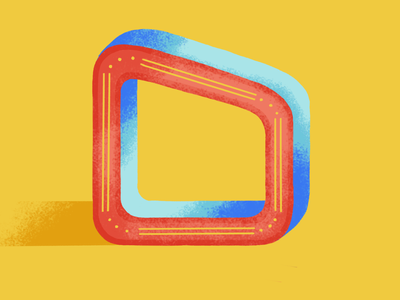 36 days of type: O 2020 36daysoftype07 colors palette dribble digital painting illustration