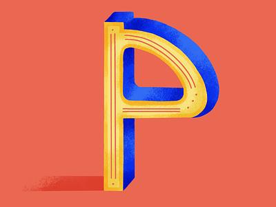 36 days of type: P digital painting 36daysoftype07 2020 colors palette digital illustration illustration