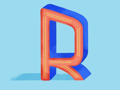 36 days of type : r digital illustration 36daysoftype07 dribble colors palette illustration