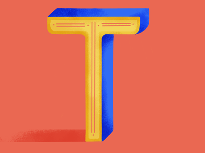 36 days of type: T dribble lettering 36daysoftype07 illustration colors palette digital illustration 2020