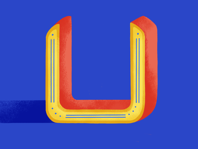 36 days of type: U 2020 lettering digital illustration colors palette dribble 36daysoftype07 illustration