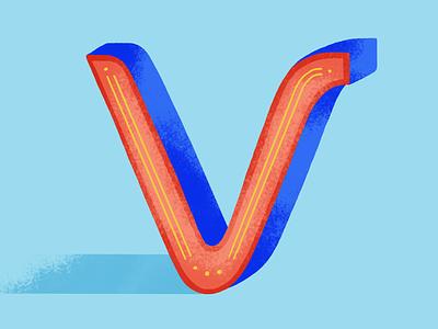 36 days of type: V lettering dribble 2020 colors palette 36daysoftype07 illustration