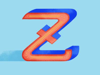 36DOT: Z digital illustration lettering 2020 dribble 36daysoftype07 illustration