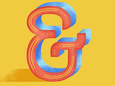 36DOT: & illustration lettering challenge lettering 2020 colors palette dribble digital illustration 36daysoftype07