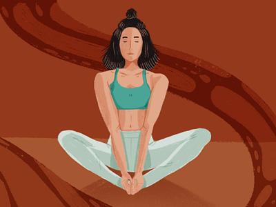 Daily new routines: meditation dribbblers 2020 illustration colors palette digital illustration procreate art procreate