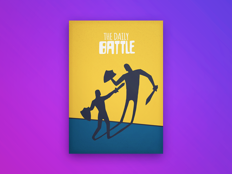Daily Battle promo event poster lettering drawing