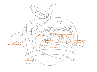Some Sweet Love for CS south creative colombus ga peach illustrator outlines sticker logo vector