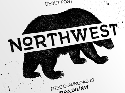 FREE FONT - NORTHWEST tirado northwest design logo textured rough vintage retro download font free
