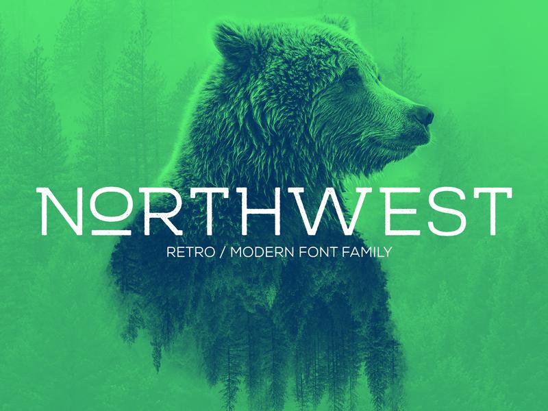 Northwest Font 1.0 creativemarket wild nature bear adventure roug clean modern retro outdoor font