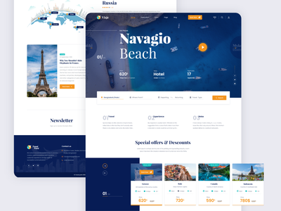 Travel Agency Website web design typeface userinterface typography agency designtrends web developement uidesign ui  ux travel app landing page homepage travelagency travel webdesign website web