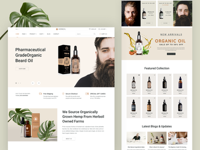 HERBOIL - Beard Oil Online Store shopify ecommerce brand typography user experience user interface app design webdesign web design branding uiux design inspiration home page ui design uxui ui website web